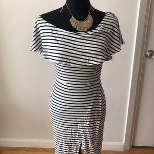 Off the shoulder form fitting dress